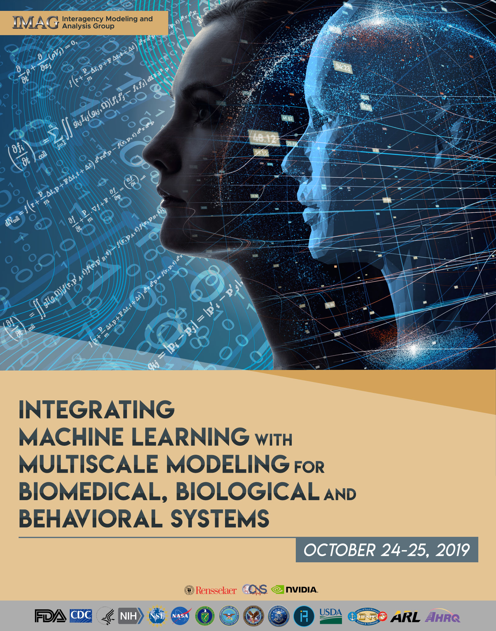 poster of Integrating Machine Learning with Multiscale Modeling for Biomedical
